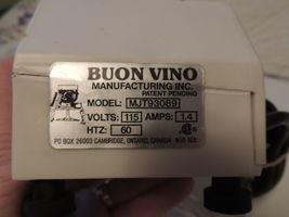 BUON VINO MINI-JET WINE FILTER Model MJT93089 Used Working w 2 packs Filters image 5