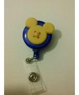 Yellow Mickey Mouse badge reel key card ID holder lanyard retractable Di... - $8.94