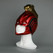 Captain Marvel 2019 Movie Mask Full Head Superhero Women Red Blue Gold H... - $32.47