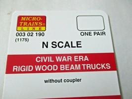 Micro-Trains # 00302190 (1175) Civil War Era Rigid Wood Beam Trucks  N-Scale image 2