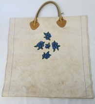 LL Bean Canvas & Leather Firewood Log Carrier Tote Pre Owned - $37.49