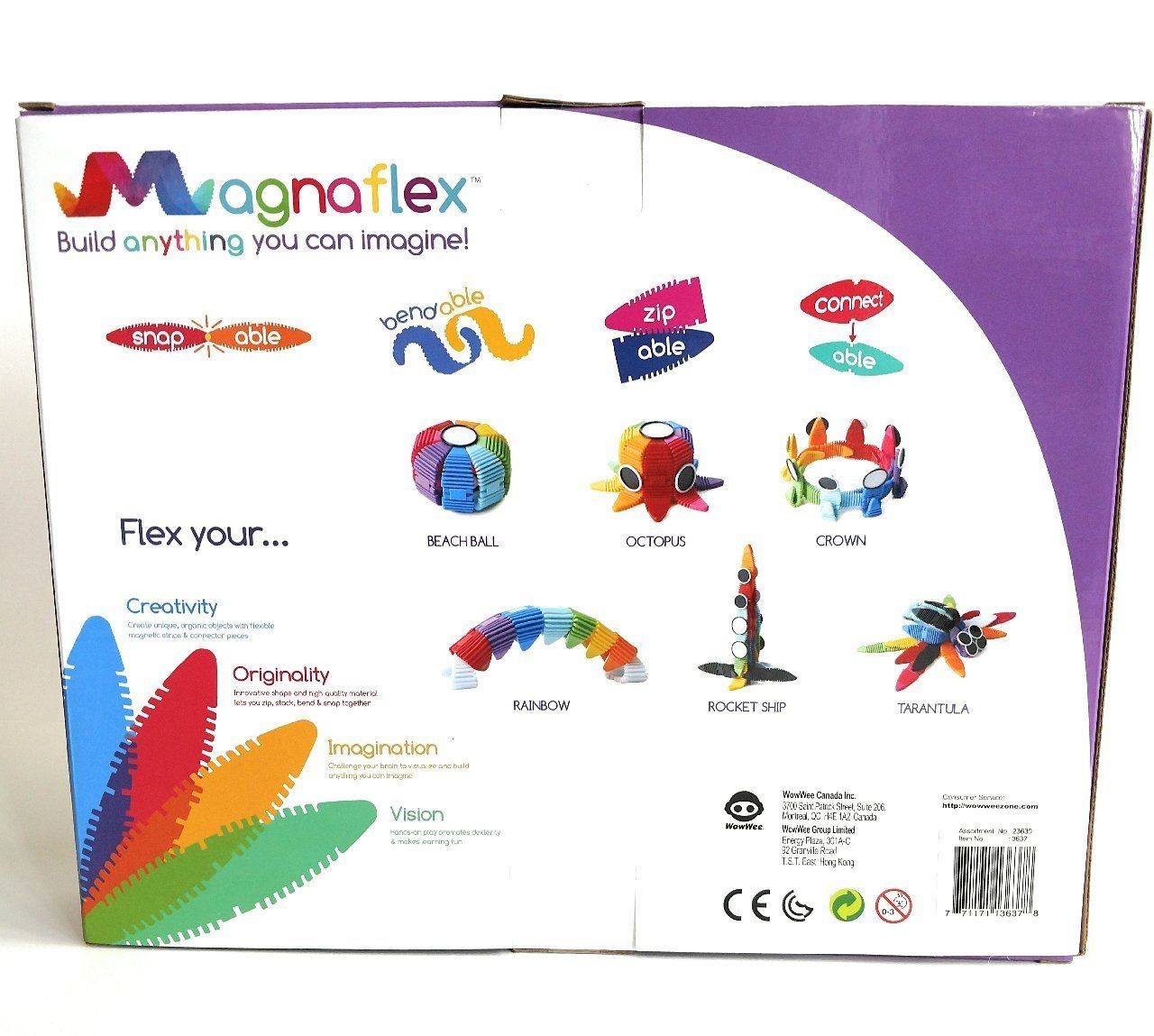 Flexible Magnetic Construction Kit WowWee Magnaflex Once upon a time 34 piece set