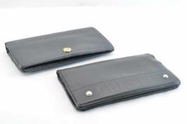 CHANEL Caviar Skin Leather Long Wallet 2Set Black CC Auth 9026 - $298.00