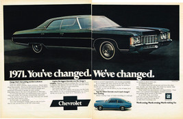Vintage 1971 2-Page Magazine Ad For Chevrolet Caprice The Biggest Chevrolet Ever - $5.93