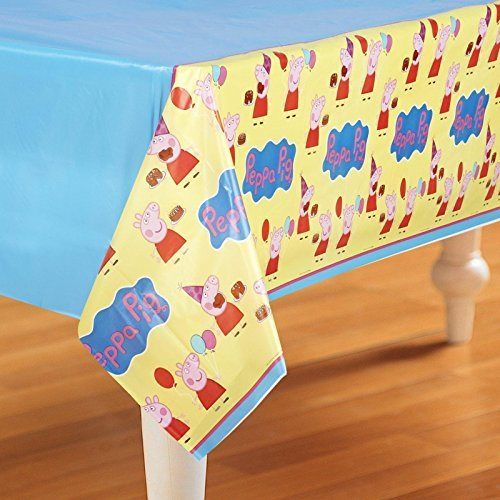 Primary image for Amscan Plastic Table Cover | Peppa Pig Collection | Party Accessory | 6 Ct, Yell