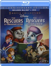 Disney Rescuers / Rescuers Down Under 35th Anniversary Edition [Blu-ray/DVD]