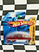Hot Wheels 2007 New Models First Edition 034 Custom '53 Chevy Red Short ... - $9.89