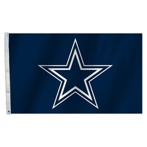 Dallas Cowboys Star 5' x 8' Premium Weatherproof Flag Custom NFL Banner ... - $188.05