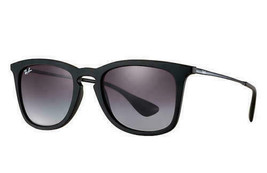Ray Ban RB4221 622/8G 50mm Rubber Black/Light Grey Gradient Dark Grey Sunglasses - $89.09