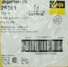 Viega Megapress G 25361 Carbon Steel Reducing Tee HNBR Sealing Element image 4