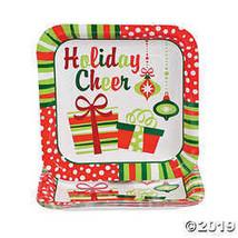 Bright Christmas Dinner Plates - $3.86