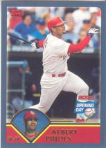 Albert Pujols ~ 2003 Topps Opening Day #135 ~ Cardinals - $0.75