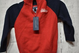 Tommy Hilfiger Boys Sweater Scarlet Sage Size 2,3 or 4T  - $18.00