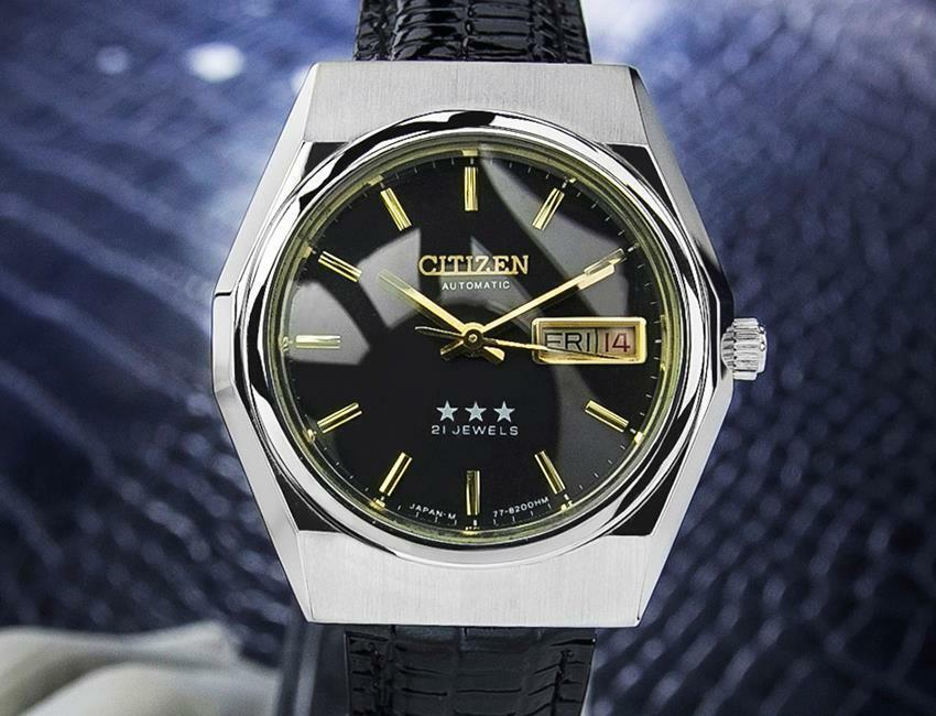 Vintage Rare Citizen HMC Made in Japan Stainless St Automatic 1970s Watch Scx286 - $771.21