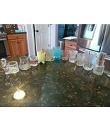Vtg Lot of 11 Glass Clear Red Yellow Blue Toothpick Holders Floral Heart... - $129.95