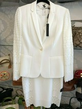 "Elie Tahari Cream ""Bora"" Dress & Jacket Set Style#EN087606 Sz 8 $700 New - $224.85"