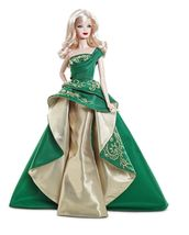 Barbie Collector 2011 Doll Holiday Green & Gold... - $37.61