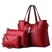 Women 3 Set Handbag Messenger Designer Ladies Tote Bag Handbag+Shoulder Bag+Purs - $37.04+