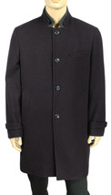 NEW MENS INC WOOL BLEND SINGLE BREASTED BORDO MAROON COAT XL $250 - $55.99