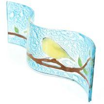 Fused Art Glass Goldfinch Yellow Finch Wavy Decor Sun Catcher Handmade Ecuador image 4