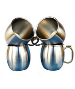 Stainless Steel Mugs Moscow Mule brass handle Cold Coffee Mug Beer Mug 1... - $36.21