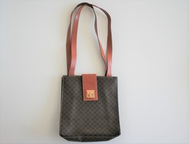 Vintage Celine Macadam Brown Shoulder Bag - $240.00