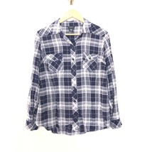 Torrid Plus Size 00 Plaid Button Front Collared Long Sleeve Shirt Blue W... - $19.16