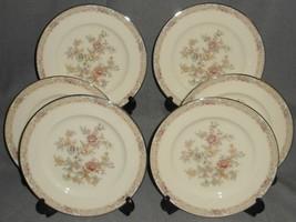 Set (6) Noritake Bone China Imperial Garden Pattern Salad Plates Made In Japan - $89.09