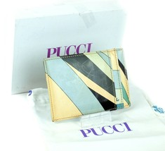 EMILIO PUCCI Burle Print Card Holder Pass Case Wallet Accessories Italy ... - $96.03