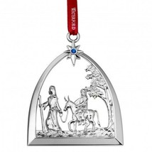 Waterford 2015 Silver Passage to Bethlehem Nativity Ornament New In Box ... - $35.34