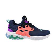 Nike React Presto Big Kid's Shoes Midnight Navy-Kinetic Green BQ4002-402 - $74.80