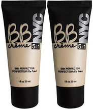 NYC BB Creme 5 in 1 Skin Perfector 02 Medium 1 F.L OZ/ 30 ml. (Pack of 2) - $13.71