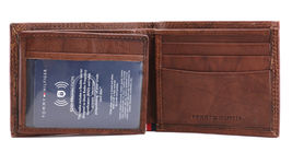 Tommy Hilfiger Men's Extra Capacity RFID Leather Traveler Wallet Tan 31TL240006 image 8