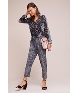 NWT ANTHROPOLOGIE HALLIE WOVEN TWIST FRONT JUMPSUIT by MAEVE 8 - £68.52 GBP