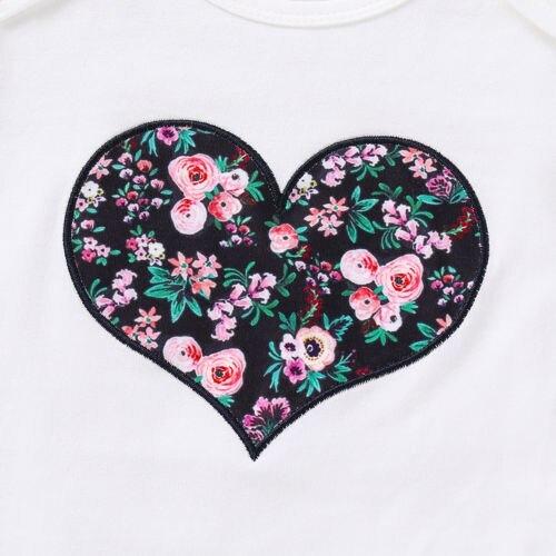 Casual Clothes 3PCS Newborn Baby Girl Clothes Sets Top Romper Floral Pants Headb image 5