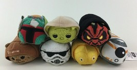 "Tsum Tsum Star Wars BB8 Boba Fett Yoda Plush Toys 7pc Lot Mini 3.5"" Toy ... - $19.55"
