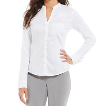 $69.5 Calvin Klein Knit-Combo Split-Neck Shirt Birch L - $49.25