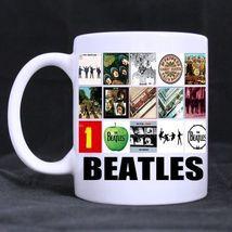 The Beatles collage Album Custom Personalized Coffee Tea White Mug - $13.99
