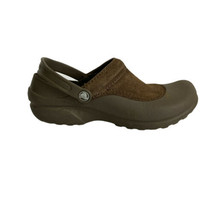 Crocs Womens Sandal Size 10 Leather Trim Clogs Slip-On Shoe Heel Straps  - $34.68