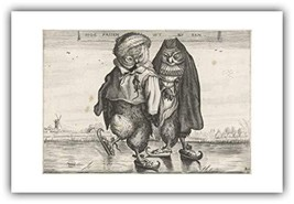 The Ibis Print Gallery - Adriaen Van de Venne : ''Skating Owls'' 1620-16... - $41.29