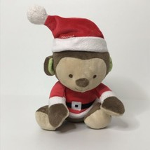 "Fisher-Price Christmas Monkey Plush Stuffed Animal Beanie Santa Outfit 7"" Tall S - $28.59"