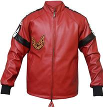 Mens Smokey and The Bandit Red Bomber Leather Jacket image 1