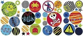 Boys Polka Dots Wall Decals 41 Red Blue Green Spots Stickers Boy Bedroom Decor - $14.50