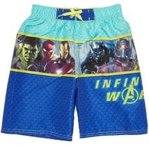 MARVEL AVENGERS INFINITY WAR UPF-50+ Bathing Suit Swim Trunks Boys Size 5/6 - $16.75