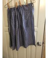 blue calico costume apron for pioneer costume Civil War HALLOWEEN - $9.90