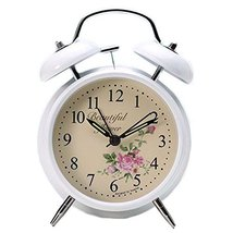 George Jimmy Cute Student Alarm Clock Stylish Silent Bedside Alarm Clock #35 - $42.35