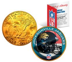 JACKSONVILLE JAGUARS  NFL 24K Gold Plated IKE Dollar US Coin *NFL LICENSED* - $9.85