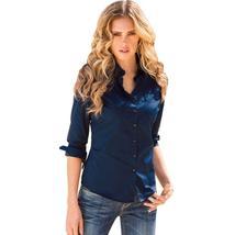 Womens Ladies Slim Fit Long Sleeve Cotton Casual Blouse Shirt Top Fashion Blouse - $13.11+