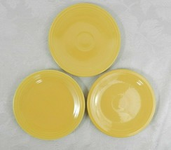 "3 Vintage Homer Laughlin Fiestaware Bread Plates Original Yellow 6-3/8"" - $24.74"