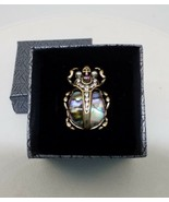 ALEXANDER MCQUEEN STYLE ABALONE SCARAB BEETLE/ SKULL RING, SIZE 7, NWOT  - $48.51